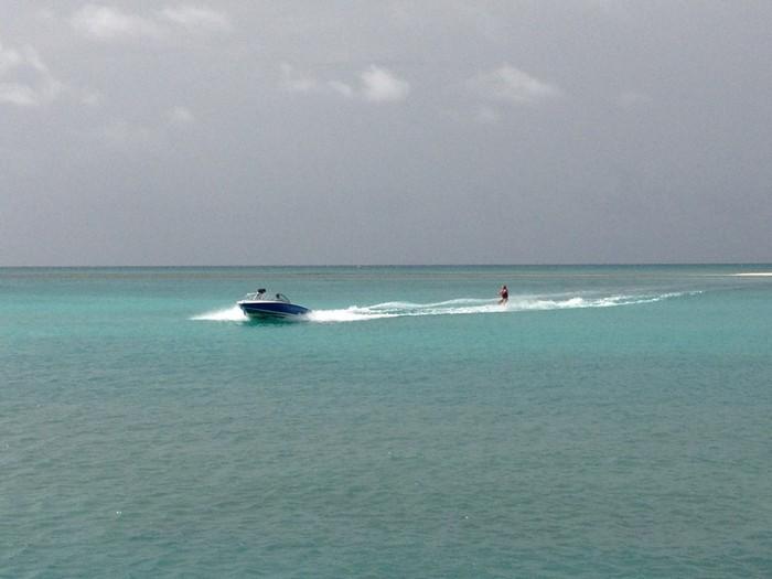 Water Skiing at Jumby Bay