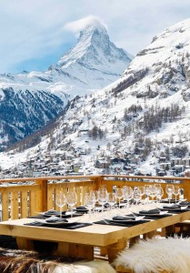 Dinner and the Matterhorn at Chalet Les Anges