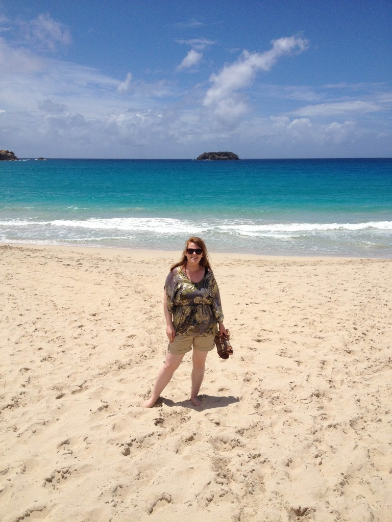 Our villa specialist on the pprowl for the best beach in St Barts
