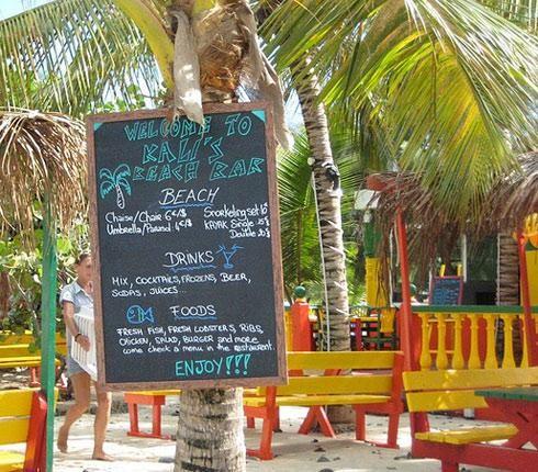 A Rum shack on Friar's Bay Beach
