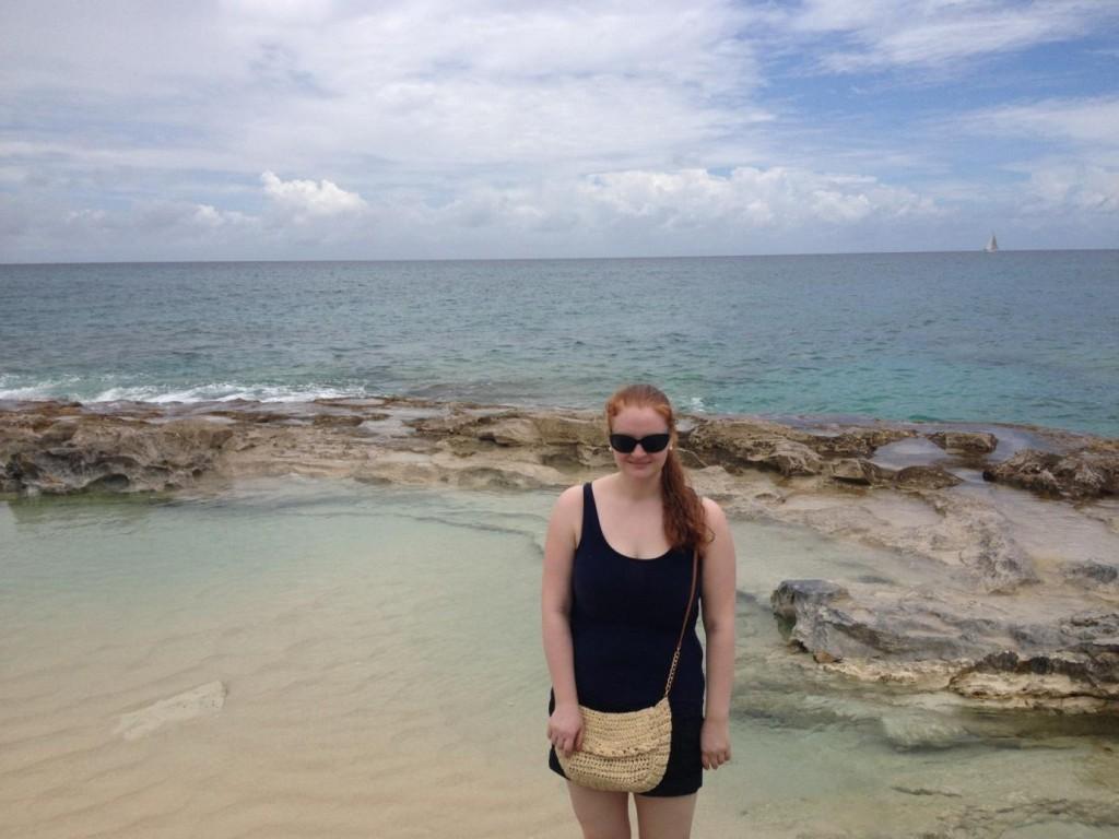 Niamh at Cupecoy Beach