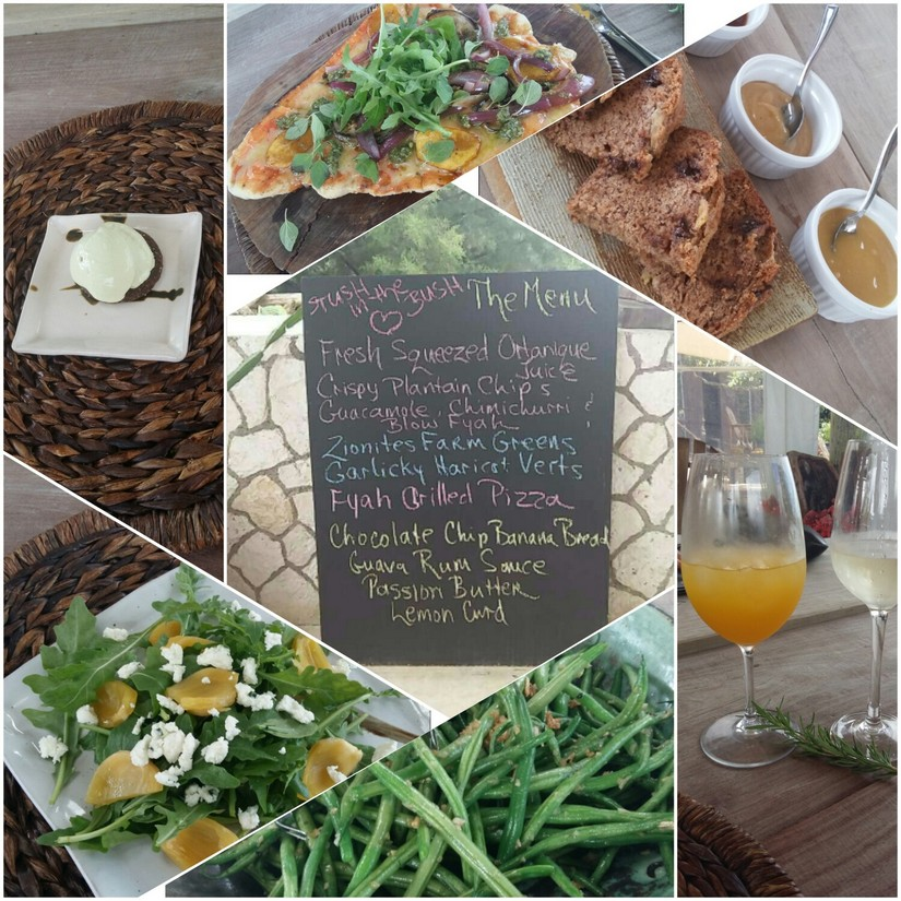 A collage of some of the many delicious dishes prepared by Lisa at Stush in the Bush