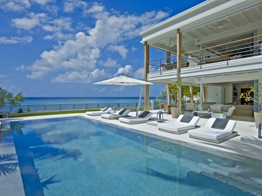 The pool and sundeck at the Dream - one our luxury barbados villas