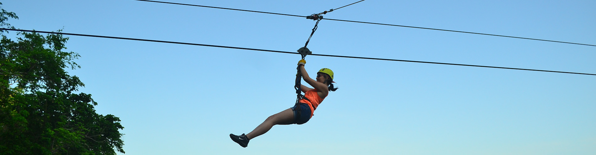 Zip Lining At Loterie Farm in St Martin