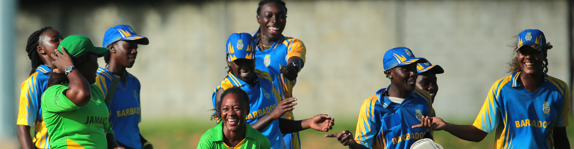 The BArbados Women's Cricket team victorious vs the Jamaicans