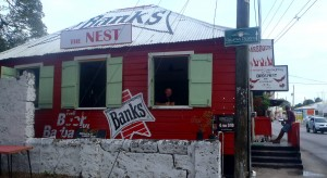 The Nest Rum Shack - They sell Banks beer. Of which we are great fans.