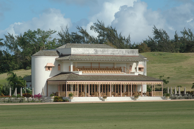 A polo clubhouse in Barbados