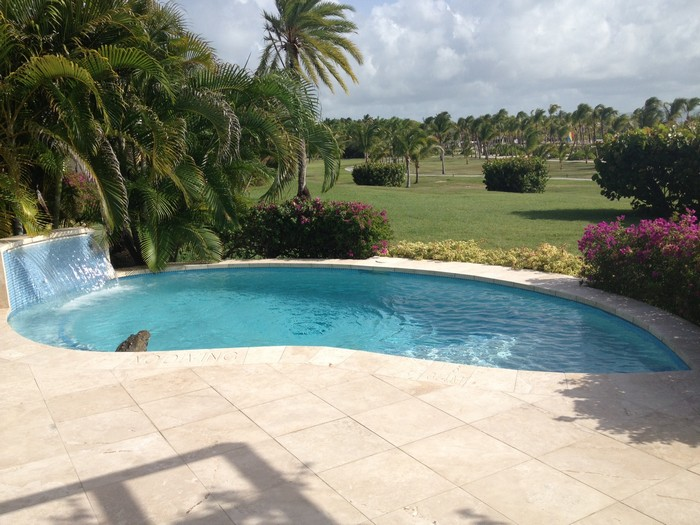 Private Swimming Pool at the Pool Suites at Jumby Bay Luxury Resort
