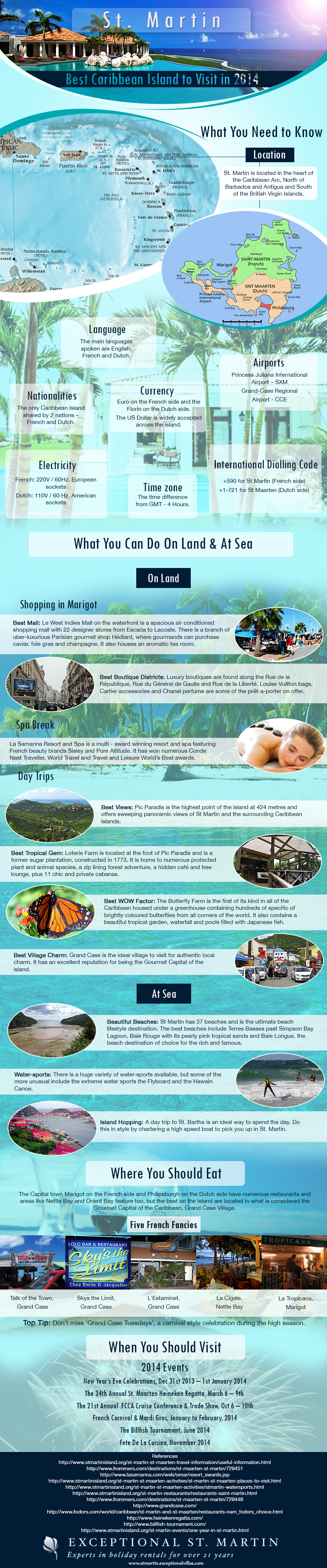 An infographic that outlines many of the rather good reasons to visit St Martin in 2014