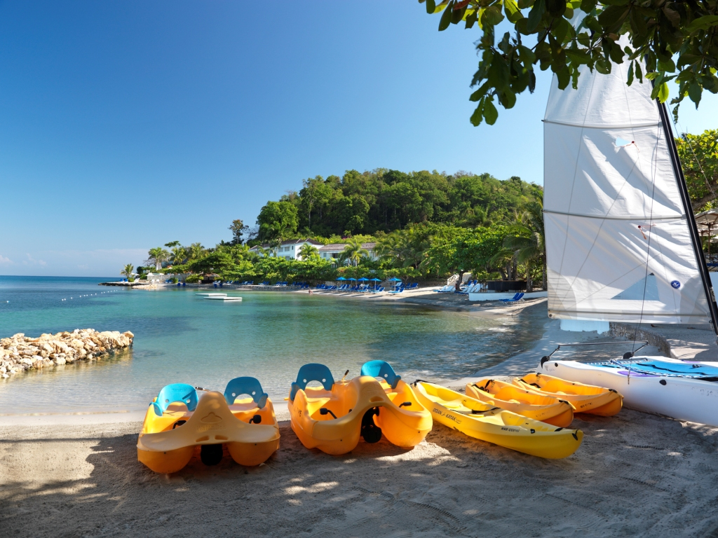 Hobie Cats at Luxury Caribbean Resort