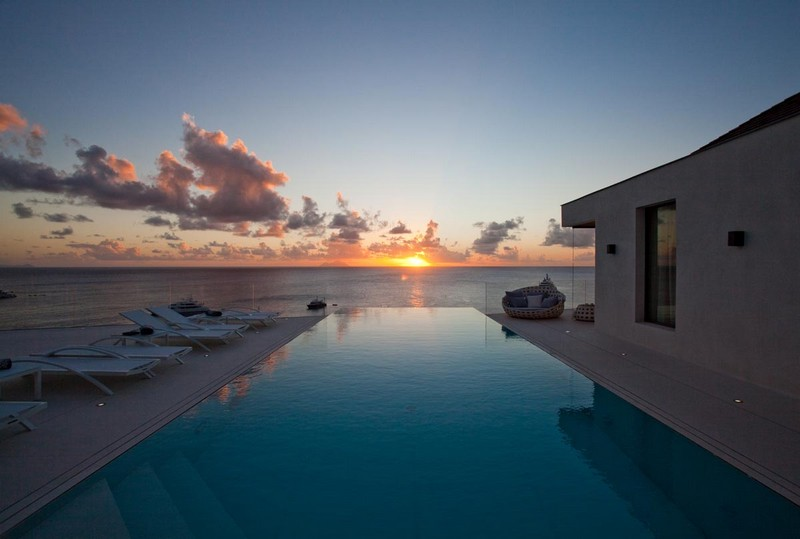 Best St Barts Villa Rentals for Sunsets - The Sun Sets over villa Vitti in Lurin