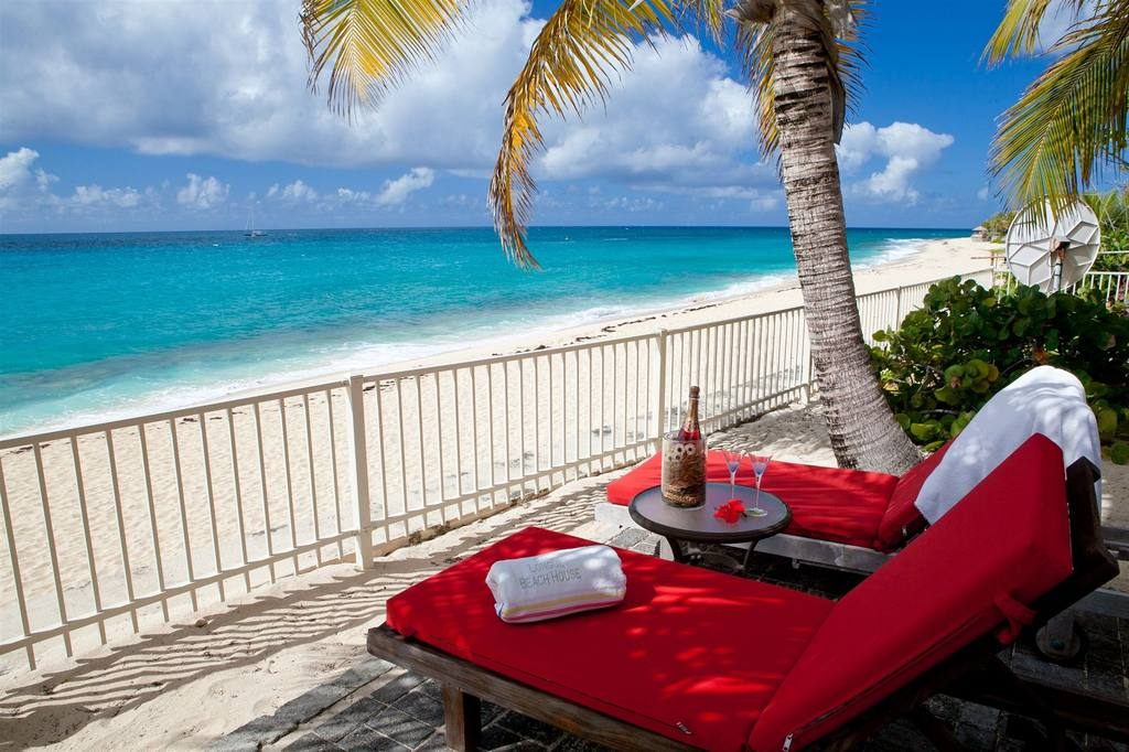 Baie Longue Beach house - beachfront villas st martin