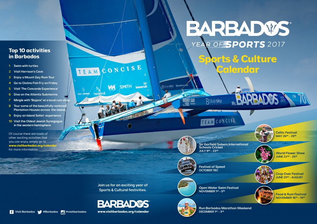 Calendar of Events for the Barbados Year of Sports 2017
