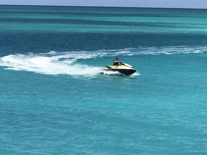 Aine making waves on her jet ski water bike