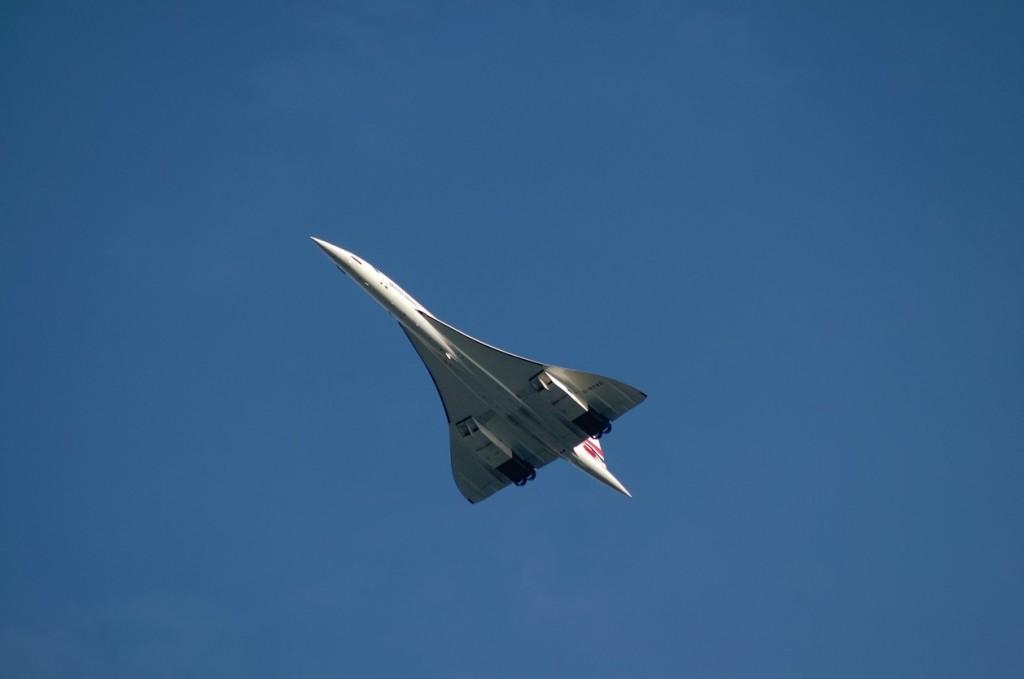 British Airways Concorde supersonic airplane