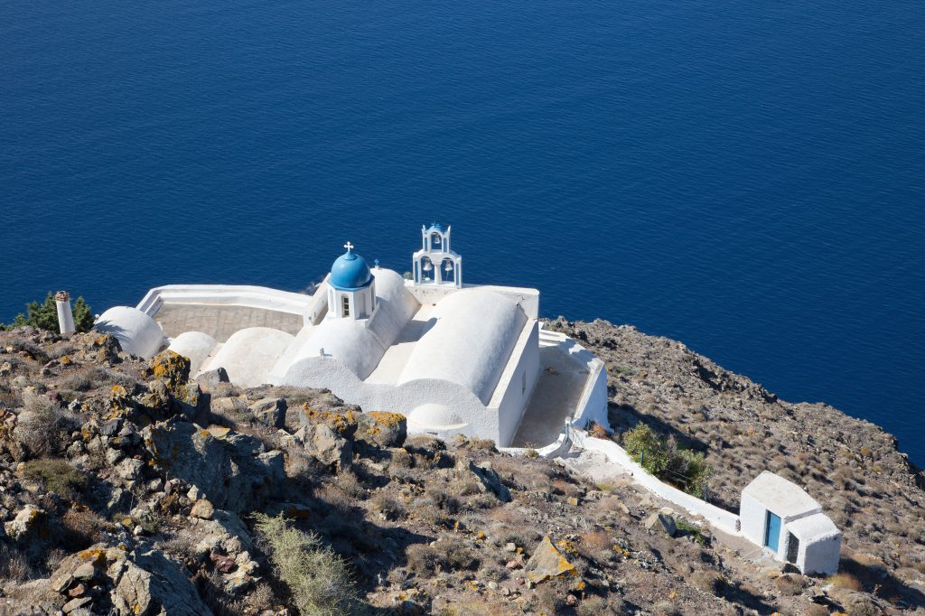 The Chapel of Agios Ioannis Apokefalistheis as seen from above
