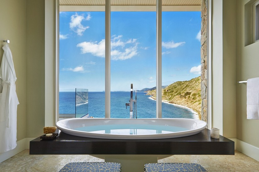 View from the sunken bath at the Cliff penthouse suite