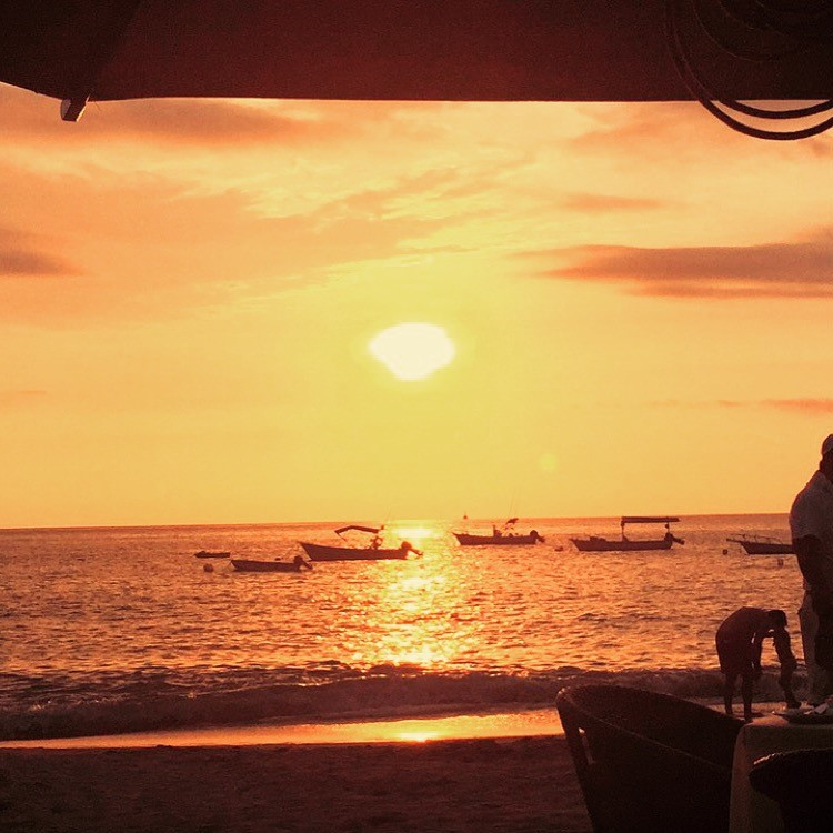 The Sun sets at La Palapa Restaurant in Puerto Vallarta