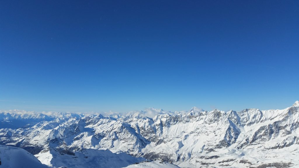 Panoramic View of the Italian Alps from Zermatt