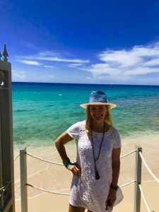 Alexandra Baradi at one of the luxury Barbados villas