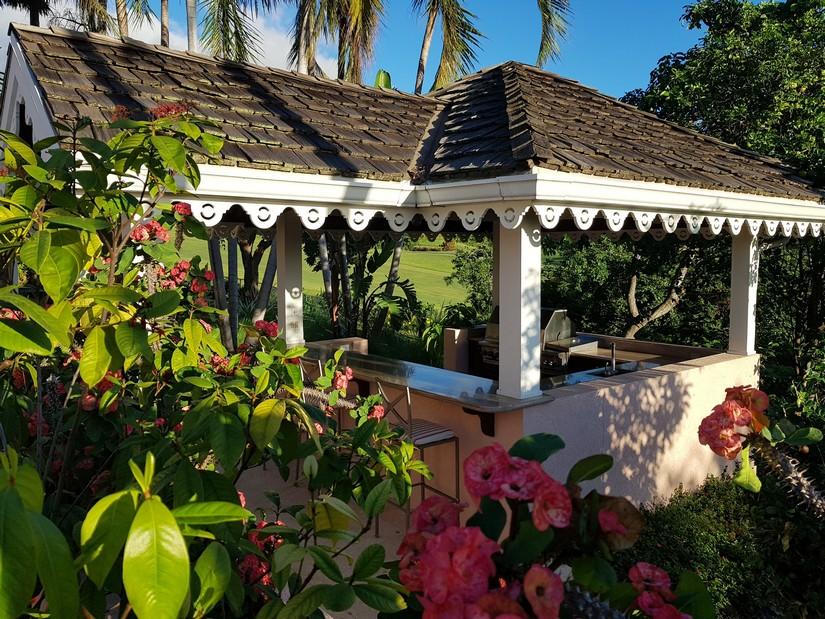Barbecue Area at Plumeria Villa in Nevis