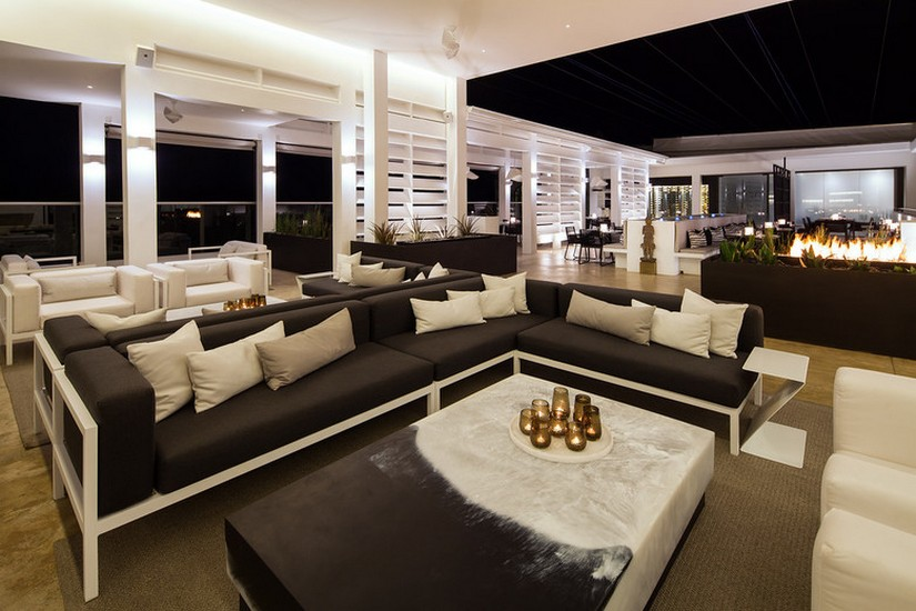 The interior of the Fusion Roof Top restaurant looks more like a comfortable living room than a restaurant