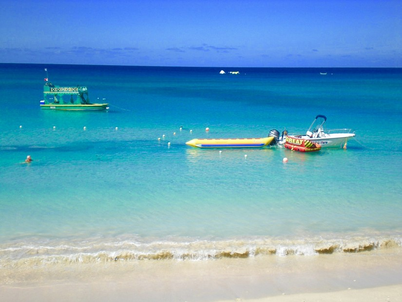 Ribs floating at Mullins beach in Barbados