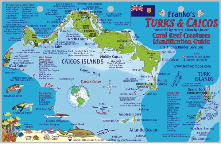 Turks and Caicos Travel Guide map