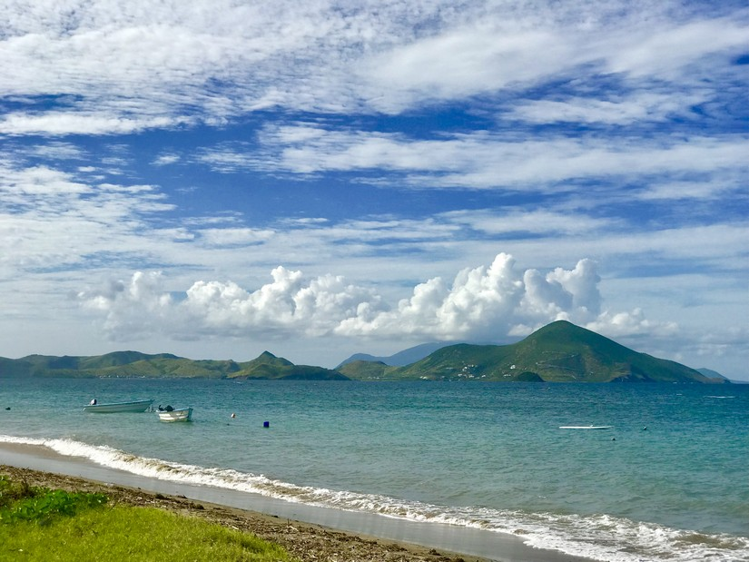 View of St Kitts across the water