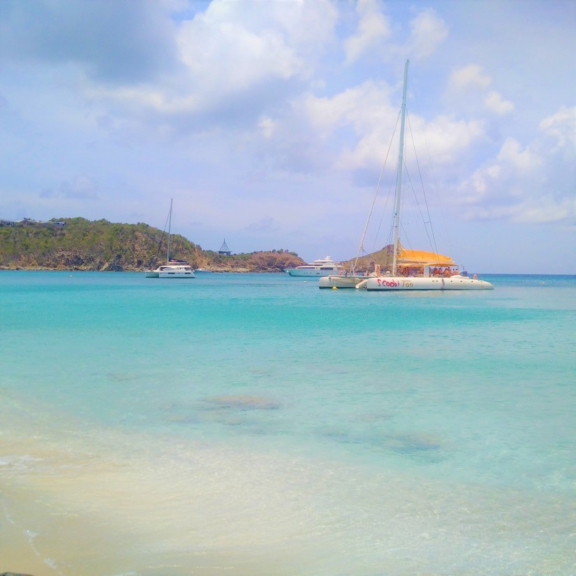 Catamarans moored at St Barts