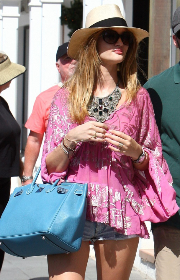 Rosie Huntington wearing island chic in St Barts