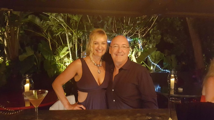 Alex at the start of a night out at le ti st barth