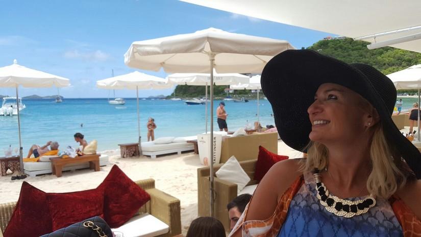 Alex at lunch at Nikki Beach