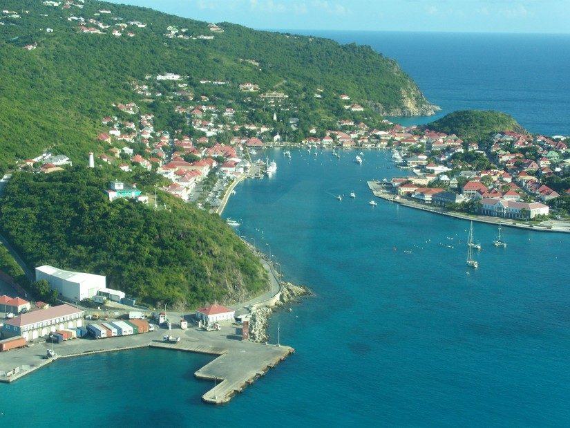 Ariel view of Gustavia