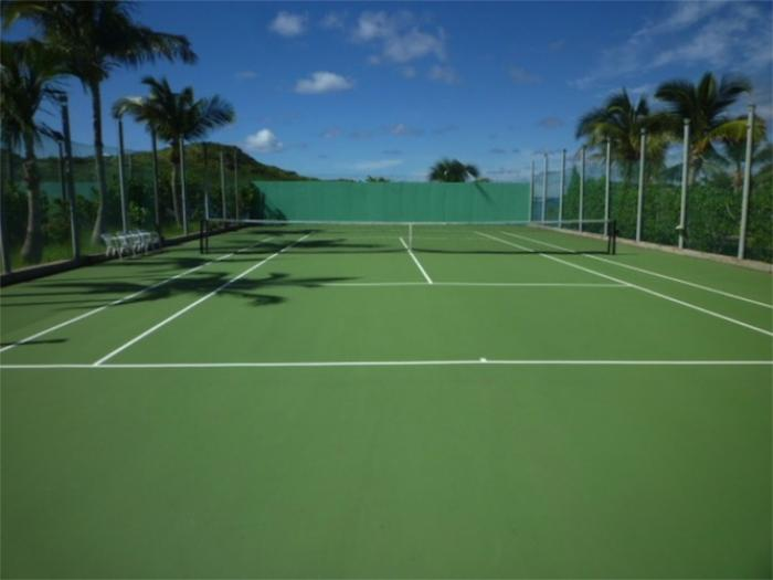 A tennis court in st barts
