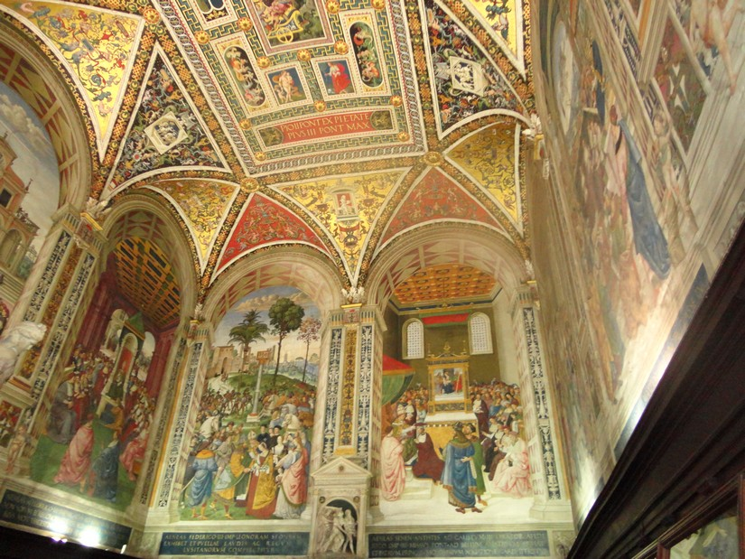 Beautifully painted ceiling of a church in Rome