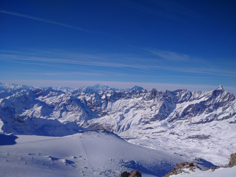 Panoramic view of the vast Italian Alps mountain range