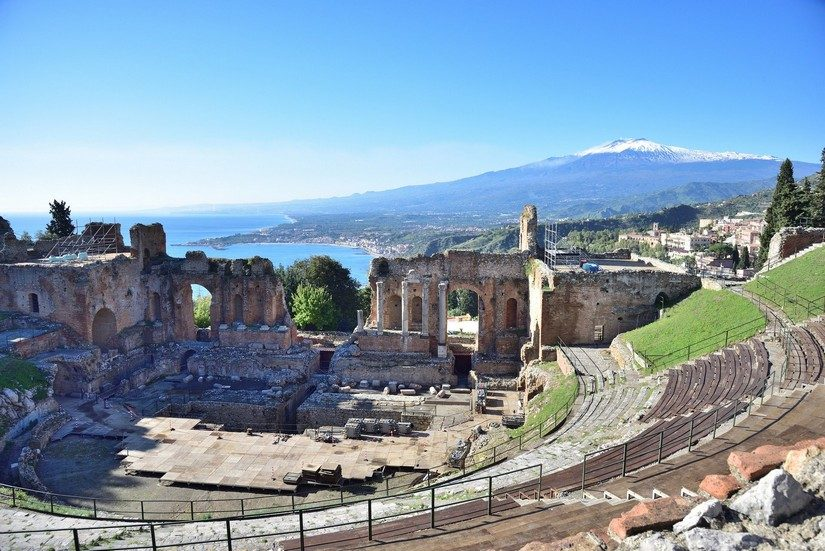 An ancient amphitheatre in Sicily
