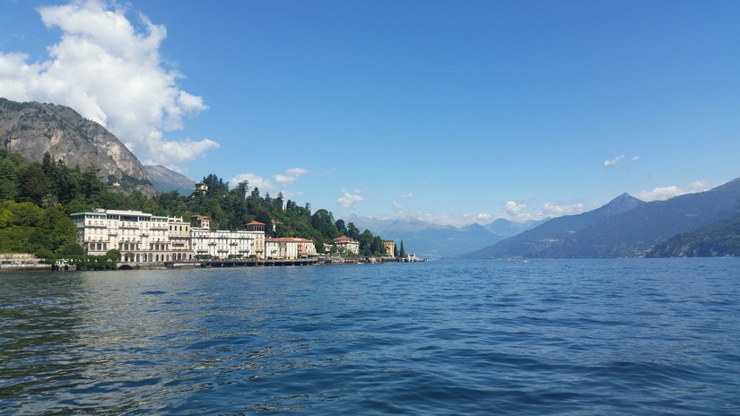 View of Italian Villas across Lake Garda