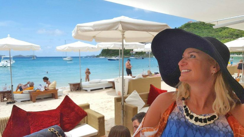 Nikki beach restaurant in St Barts sits directly on the beach and has a pleasingly relaxed atmosphere