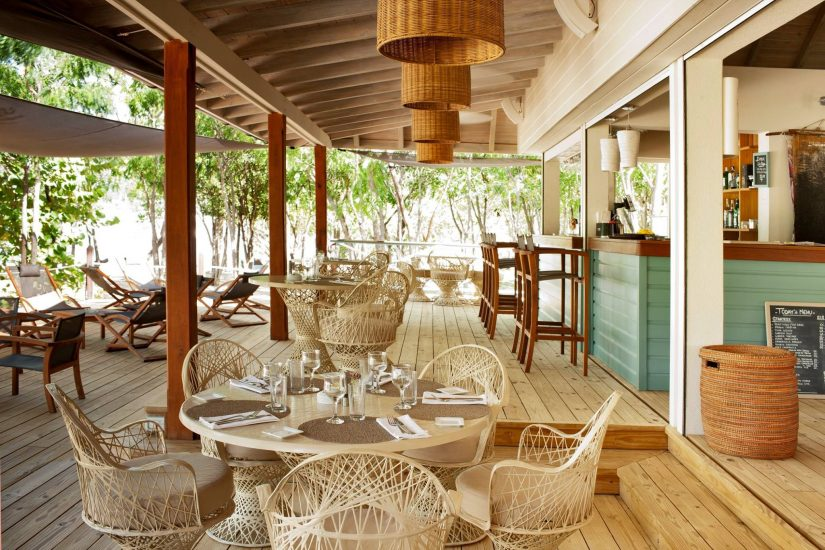 Photo of the dining area at Catherine's cafe in Antigua
