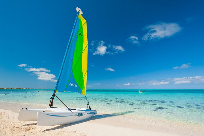 One of the great Turks and Caicos attractions is water sports and hobie cat sailing is one of the most fun methods of sailing.