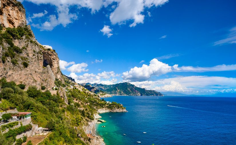 Another wonderful thing to do whilst in Positano is to hike the Path of the Gods, a narrow mountain ridge with breath-taking views over the Amalfi coastline