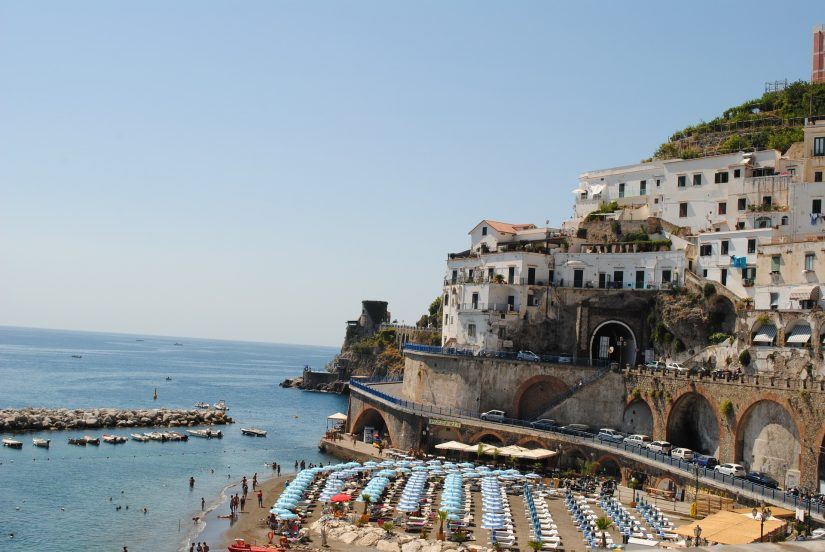 The Marina at Fornillo Beach, just a 10 minute walk from Positano town centre