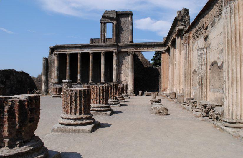 ancient ruins at Pompeii