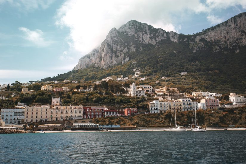 A wonderful view of Capri as you approach by sea