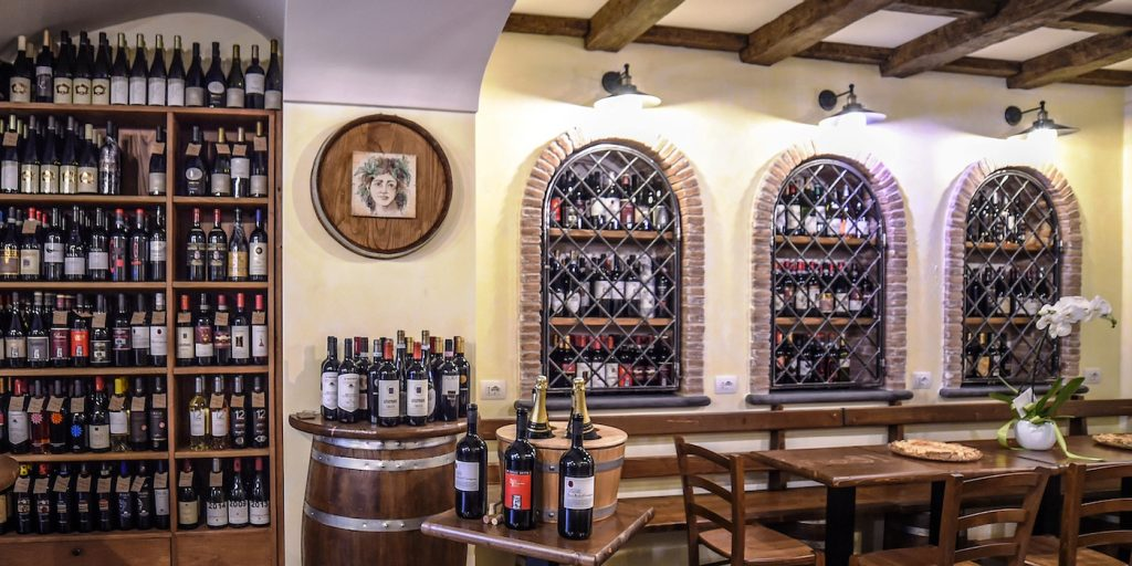 An enormous array of delectiable Italian wines line the walls and alcoves of Fouro 51 wine bar in Sorrento