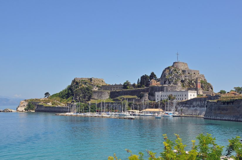 One of the Corfu points of interest include the old fortress pictured here