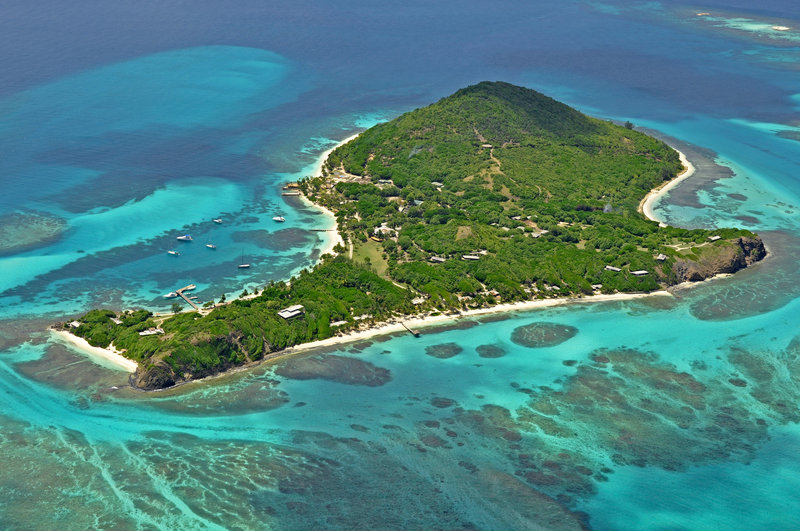 Petit St Vincent private island for rent near Mustique and the Grenadines. It's small but perfectly formed