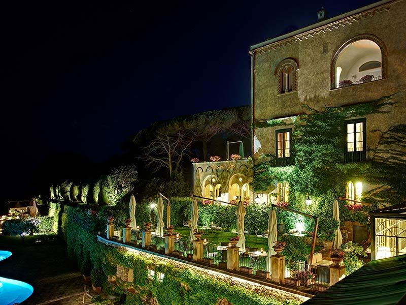 Il Fauto di Pan restaurant in ravello is in located in the Villa Cimbrone hotel, serves great food and is the ideal location to propose
